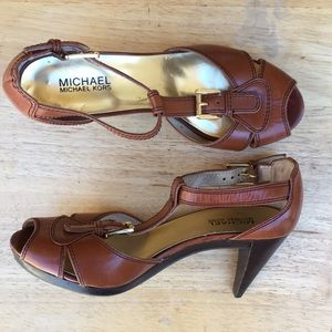 MICHAEL KORS open toe high heels